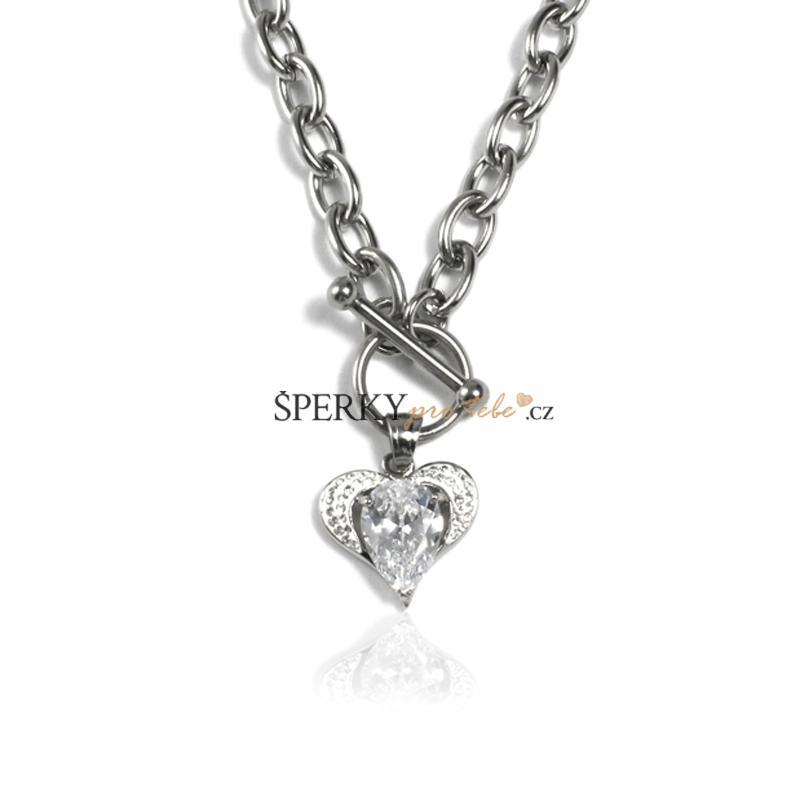 832b19eb8 Dámský náhrdelník srdce z chirurgické oceli S31130 | Šperkyprotebe ...