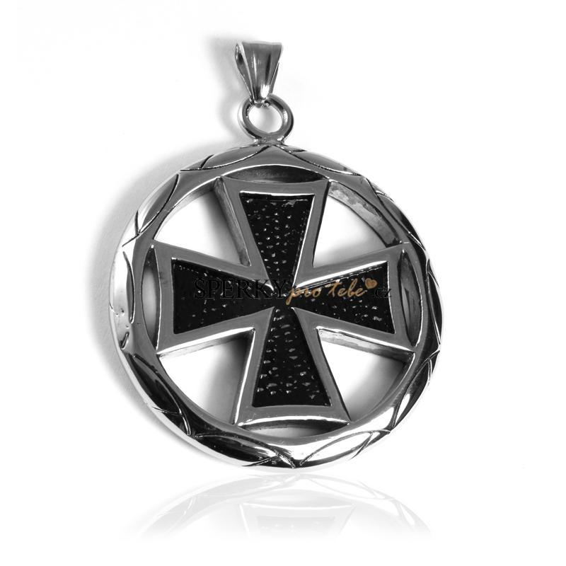 Pánský přívěsek z chirurgické oceli keltský kříž WHEEL S79100