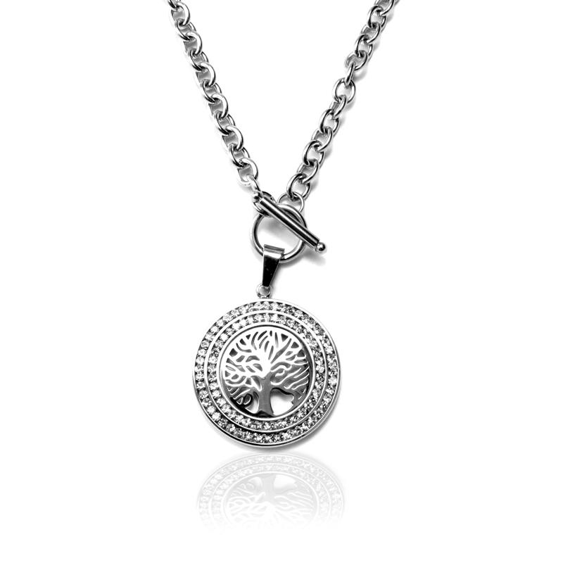Dámský náhrdelník z chirurgické oceli strom života S117115