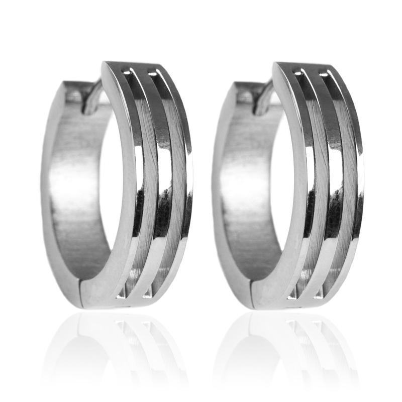 Náušnice kroužky z chirurgické oceli S192110