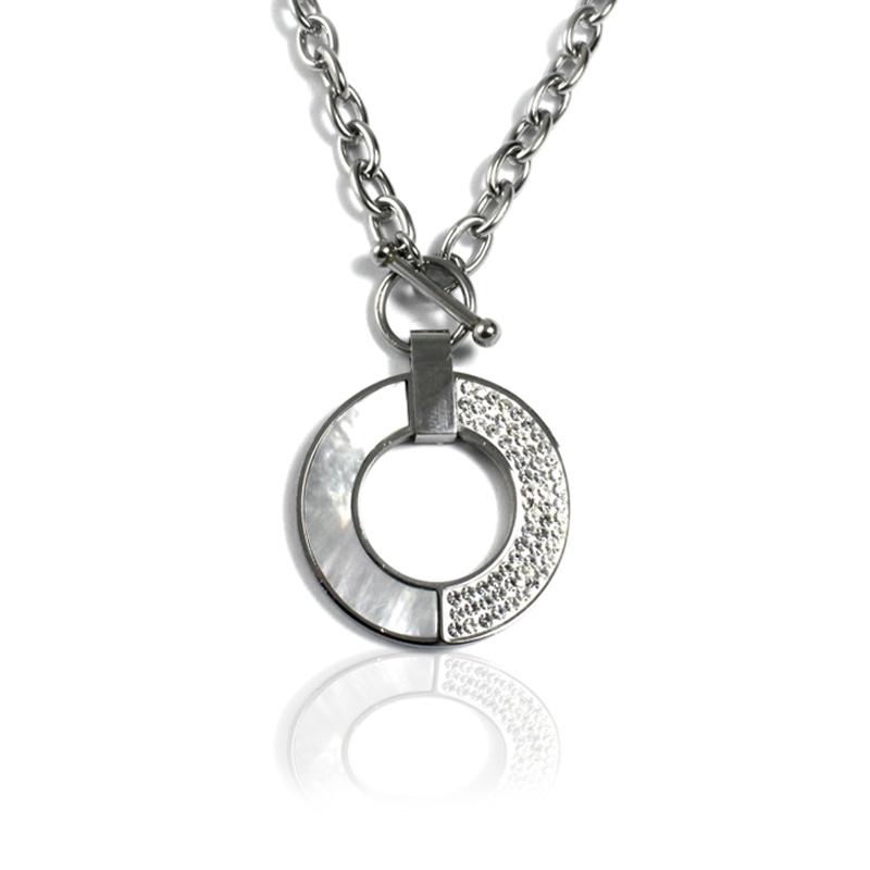 Dámský náhrdelník z chirurgické oceli RING S20150