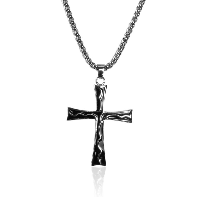 Náhrdelník kříž z chirurgické oceli S210150