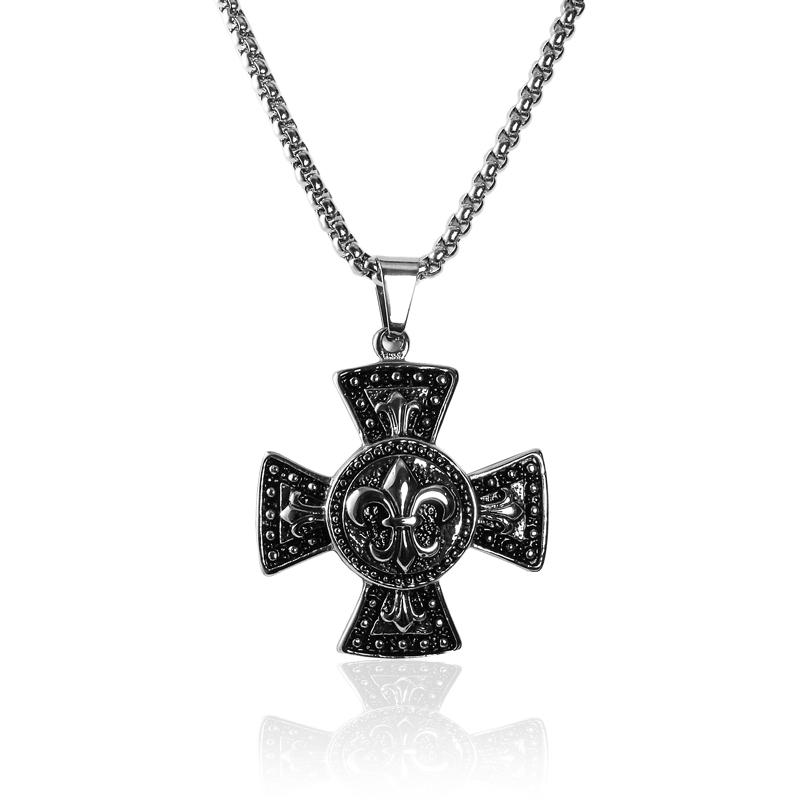Náhrdelník keltský kříž zdobený z chirurgické oceli S218150