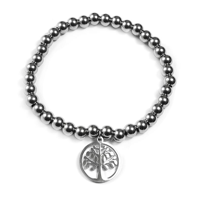 Dámský náramek natahovací strom života z chirurgické oceli S243080