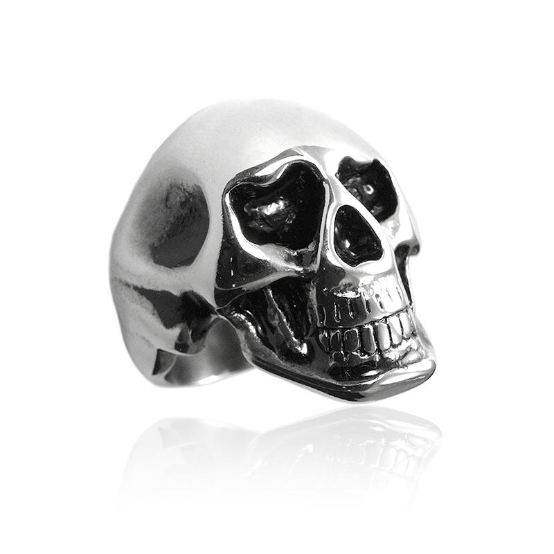 Pánský prsten lebka z chirurgické oceli S293090