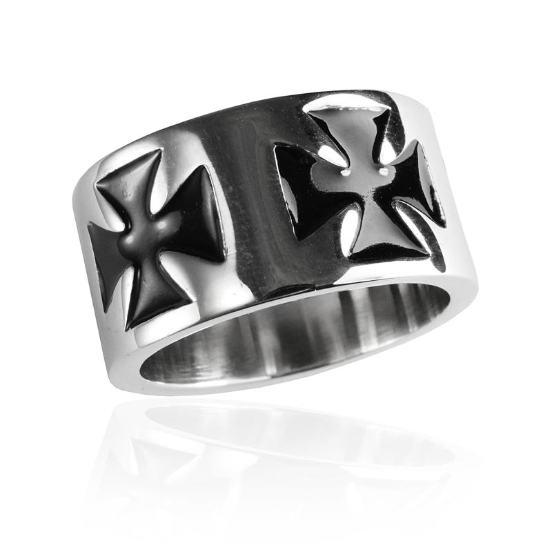 Pánský prsten keltský kříž z chirurgické oceli S294090