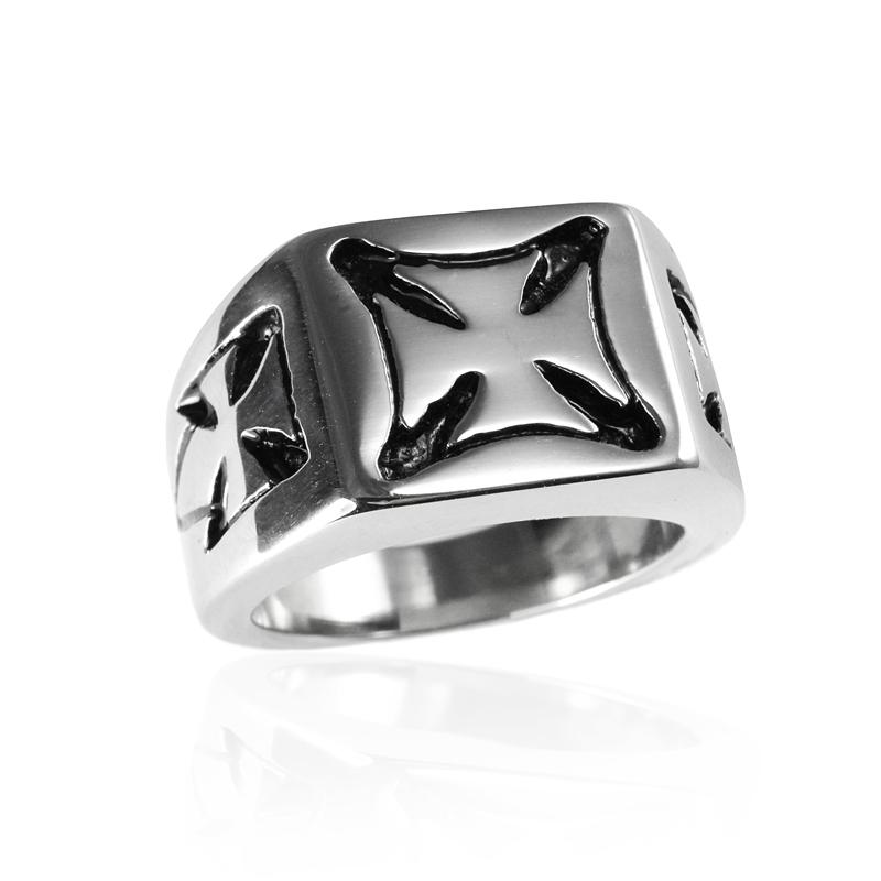 Pánský prsten keltský kříž z chirurgické oceli S295090
