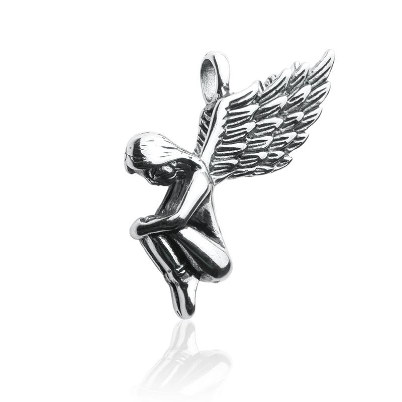 Přívěsek anděl z chirurgické oceli S305115