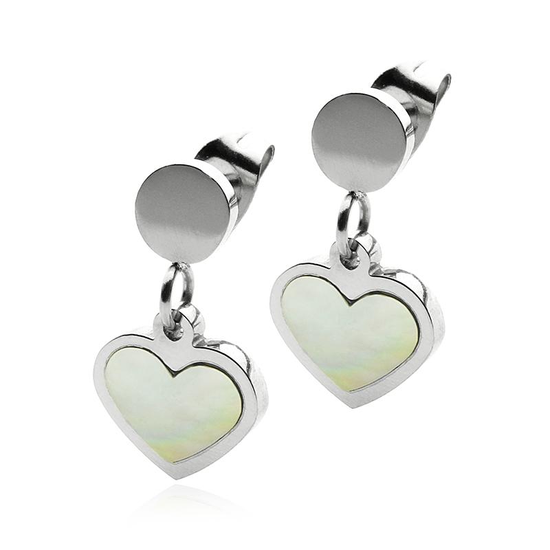 Náušnice perlové srdce S354070