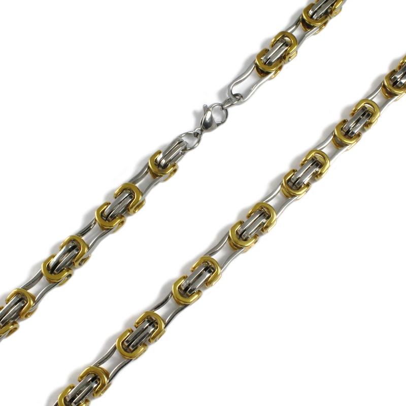 Pánský masivní řetěz TWO COLORS z chirurgické oceli S36150