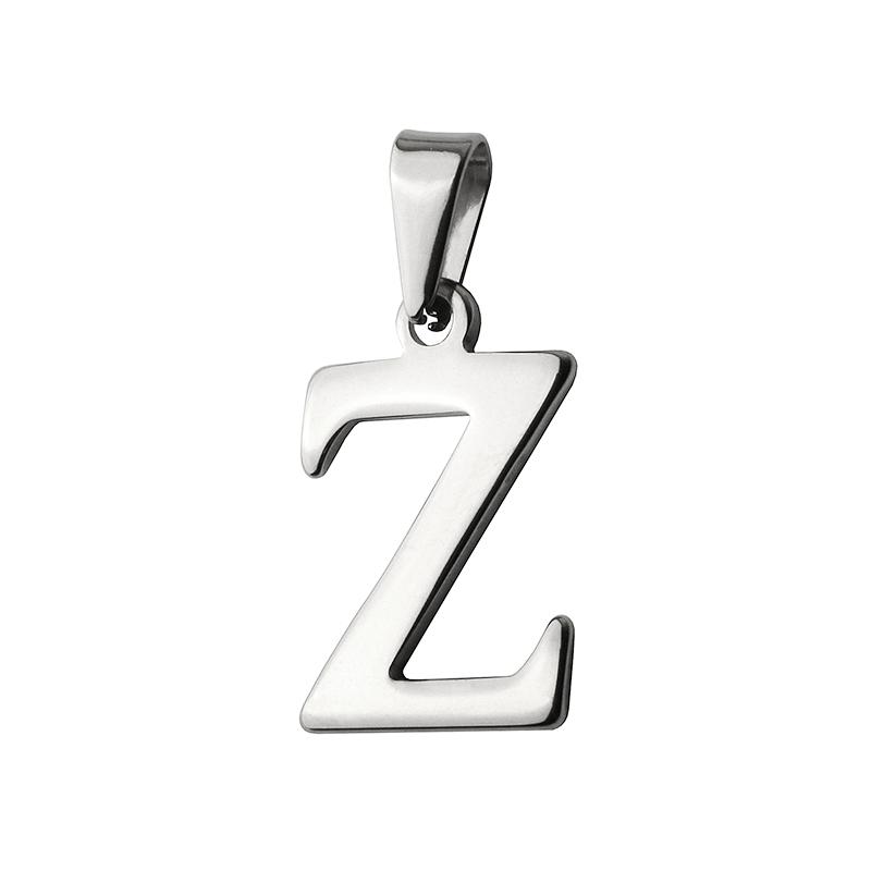 Přívěsek písmeno Z z chirurgické oceli S413015