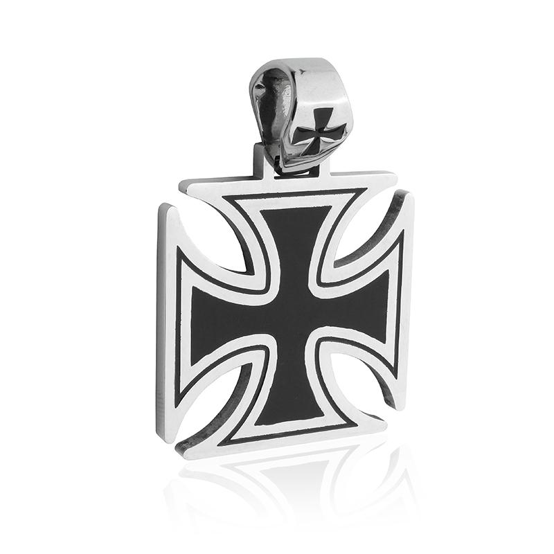 Přívěsek z oceli keltský kříž s nápisem S483150