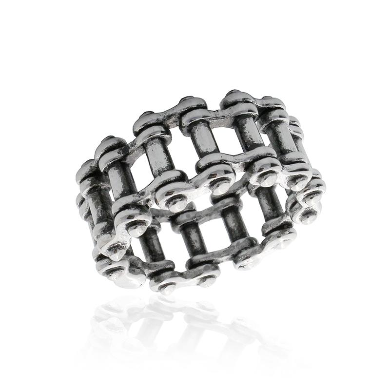 Pánský prsten motocyklový řetěz z chirurgické oceli S521090