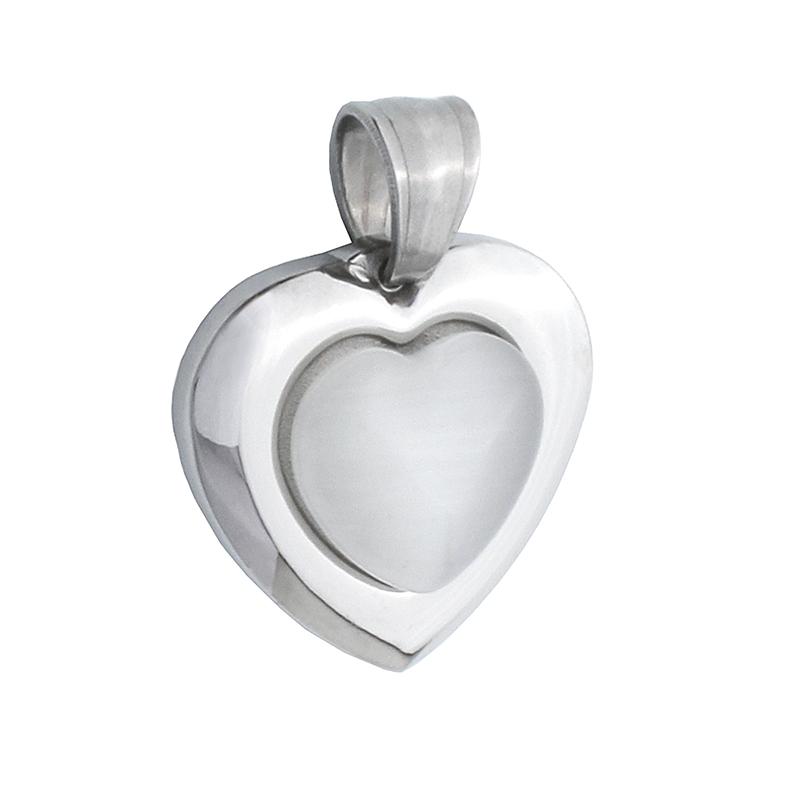 Dámský přívěsek srdce z chirurgické oceli S580100