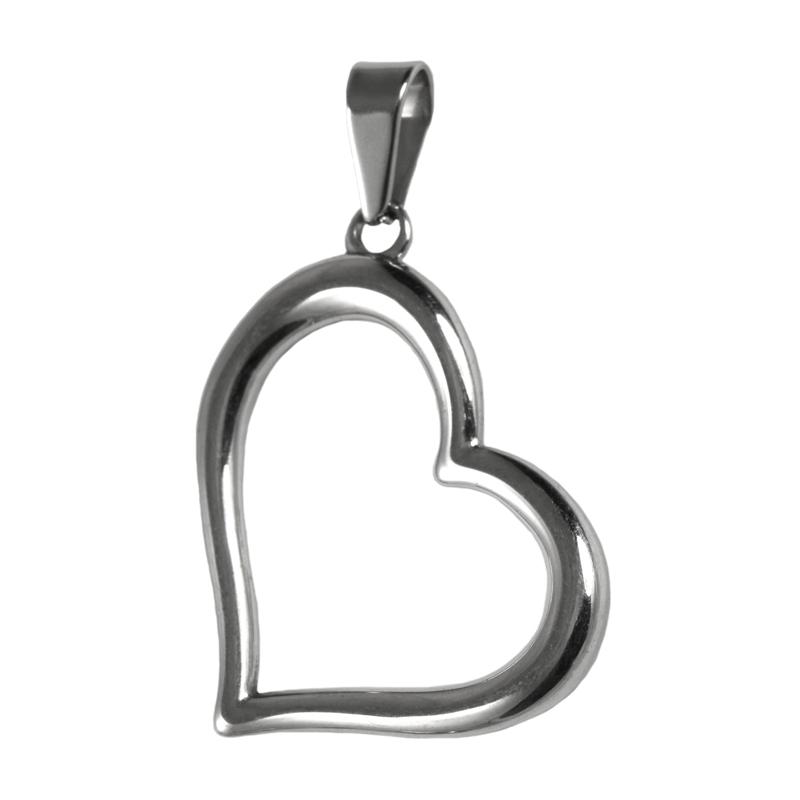 Dámský přívěsek z chirurgické oceli srdce S57045