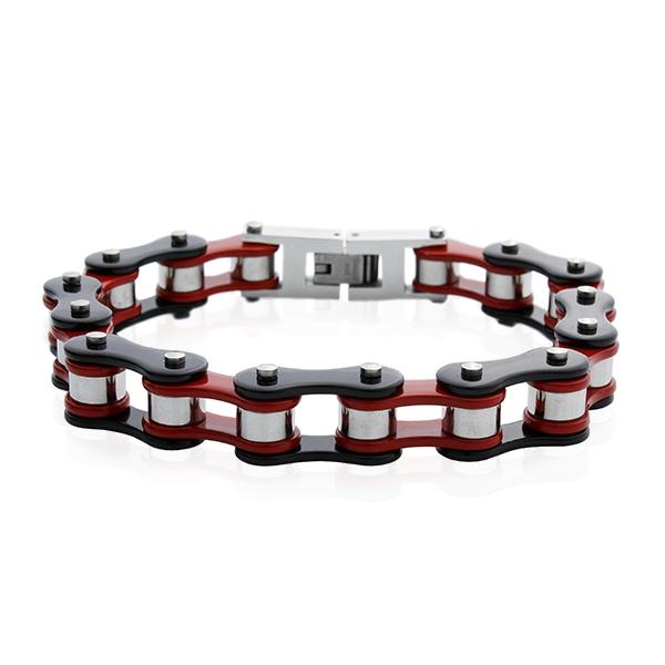 a5fc056ab Dámský náramek motocyklový řetěz red/black S591220