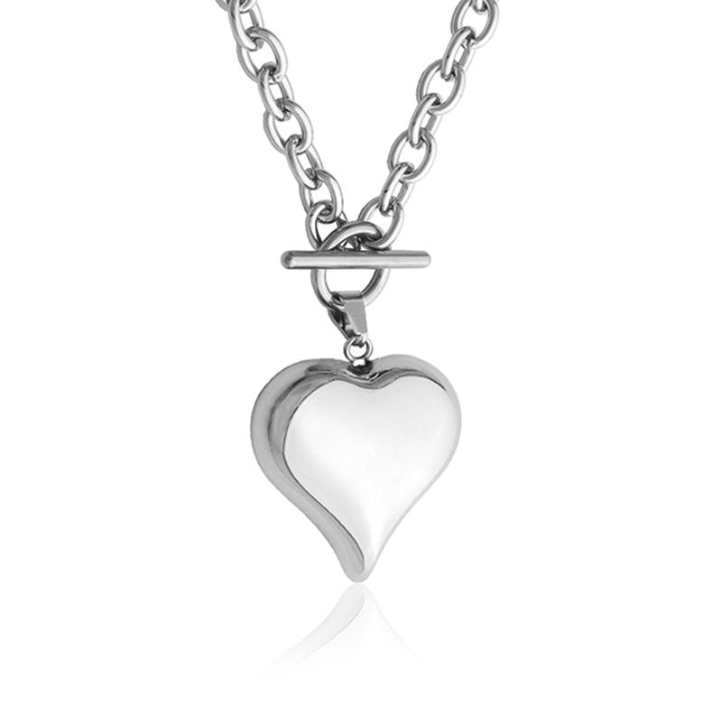 8466cfe30 Dámský náhrdelník srdce 3,3cm z chirurgické oceli S638100