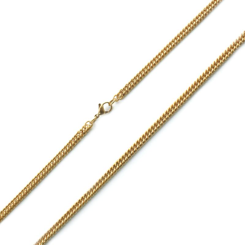 Pánský zlatý řetěz 0,75 cm z chirurgické oceli S695070