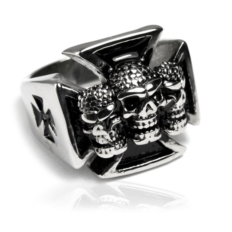 Pánský prsten z chirurgické oceli lebky S84085